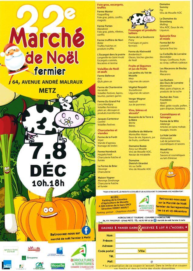 Marché De Noel Moselle Marché fermier de Noel de Metz   CHAMBRE D'AGRICULTURE MOSELLE